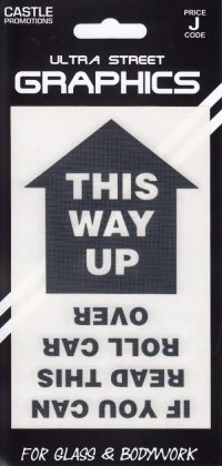 this way up graphic black