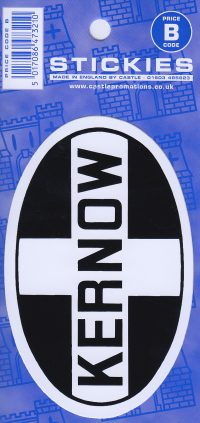 V133 Kernow Oval Sticker