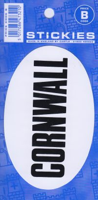 V135 Cornwall Oval Sticker