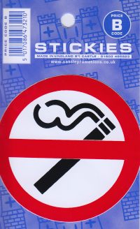 V37 No Smoking Sticker