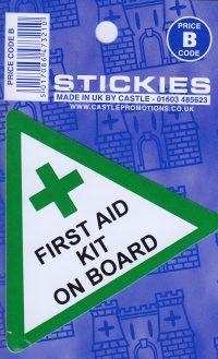 V45 First Aid Kit On Board Sticker